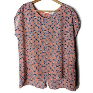 Mine Too Floral Open Back Blouse